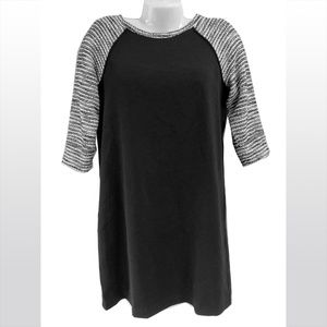 Ann Taylor LOFT Shift Dress w Contrast 3/4 Sleeves
